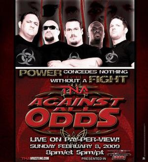 Against All Odds (2009) - Promotional poster featuring The TNA Frontline