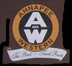 Ahnapee and Western Railway - Ahnapee and Western Railway logo.