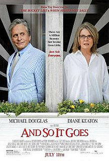 <i>And So It Goes</i> (film) 2014 film by Rob Reiner