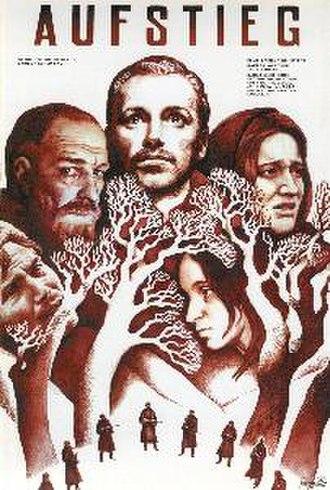 The Ascent - German poster - (left to right) Rybak, the village headman, Sotnikov, Basya, Demchikha