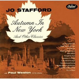 Autumn in New York (Jo Stafford album) - Image: Autumn in new york stafford