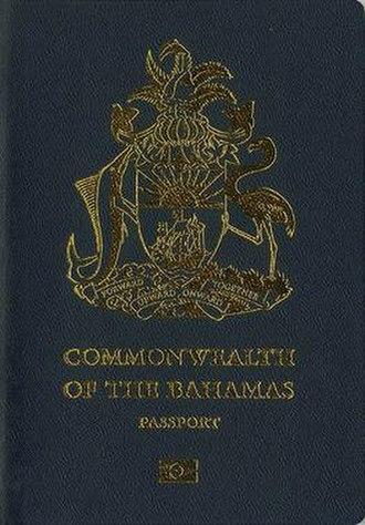 Bahamian passport - Bahamian passport front cover