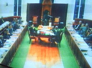 House of Assembly of Barbados - Image: Barbados House of Assembly session TV
