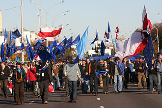 Foreign relations of Belarus - Rally in the center of Minsk to support closer ties with the European Union, 2007