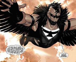 Black Condor - John Trujillo, the new Black Condor.  Art by Daniel Acuña