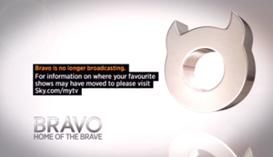 Bravo (UK TV channel) - Bravo's on-screen card after it ceased broadcasting.