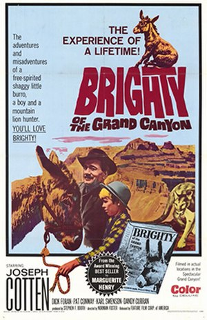 Brighty of the Grand Canyon - Theatrical release poster