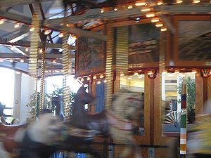 Chapel Hill Mall - The carousel in the food court.