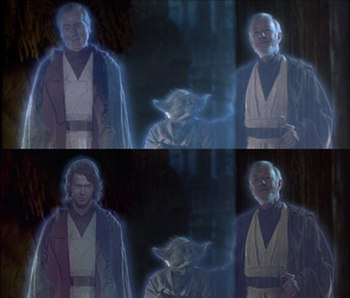 Original scene with Sebastian Shaw as Anakin S...