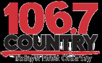 CIKZ-FM - Image: Country 106.7 FM