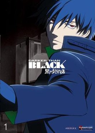 Darker than Black - Cover of the first English Darker than Black DVD volume, featuring protagonist Hei