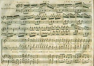 Sheet music for Der Freischütz, published by S...
