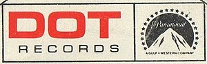 Dot Records - Image: Dot Records logo 1968