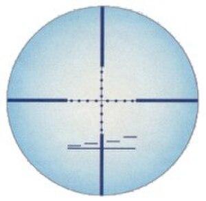 Stadiametric rangefinding - Mil-dot reticle as used in telescopic sights.