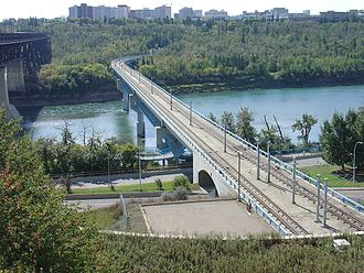 Transportation in Edmonton - Dudley B. Menzies LRT Bridge