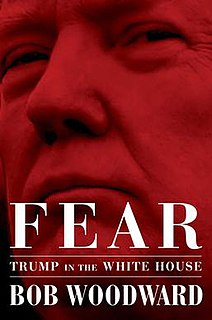 <i>Fear: Trump in the White House</i> 2018 non-fiction book by Bob Woodward about Donald Trumps presidency