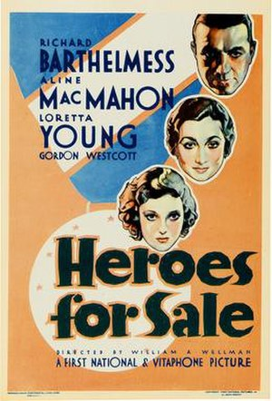 Heroes for Sale (film) - Theatrical release poster