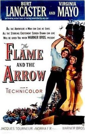 The Flame and the Arrow - Promotional poster
