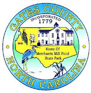 Gates County, North Carolina - Image: Gates county nc seal