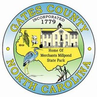 Gates County, North Carolina - Image: Gates county nc seal