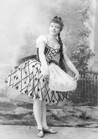 The Harlem Tulip - Mariia Anderson as Emma in the Ivanov/Fintinhof-Schell The Haarlem Tulip, St. Petersburg, 1892.