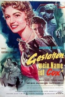 <i>Hello, My Name is Cox</i> 1955 film by Georg Jacoby