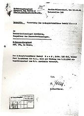Rudolf hss wikipedia appointment order of rudolf hss as commander of auschwitz concentration camp fandeluxe Choice Image