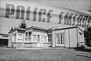 Aramoana massacre - The house in Aramoana where David Gray was killed on 14 November 1990.