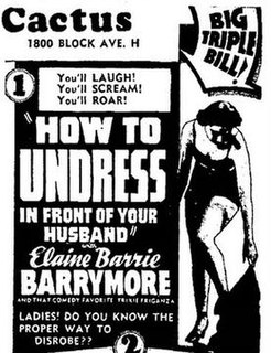<i>How to Undress in Front of Your Husband</i> 1937 film by Dwain Esper