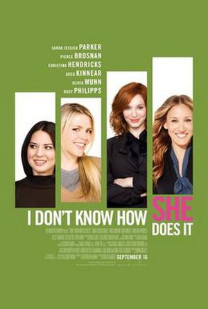 I Don't Know How She Does It - Theatrical release poster