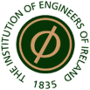 Institution of Engineers of Ireland - 1999: former logo incorporated phi, the 21st Greek alphabet letter.