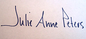 Julie Anne Peters - Image: Julie Anne Peters signature