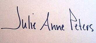 Julie Anne Peters - Image: Julie Anne Peters signature