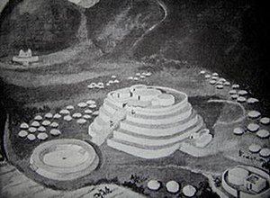 La Galgada (archaeological site) - A reconstruction of the site.