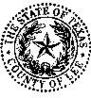 Lee County, Texas - Image: Lee County tx seal