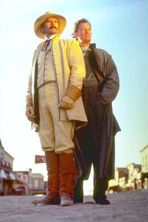 Legend (TV series) - Richard Dean Anderson and John de Lancie as Ernest Pratt and Janos Bartok