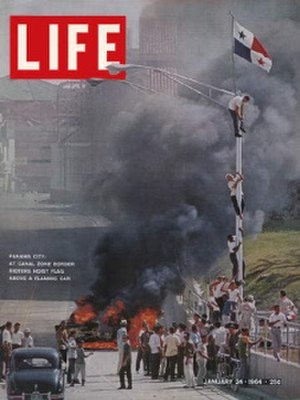 Martyrs' Day (Panama) - Cover of Life magazine (1/24/1964).