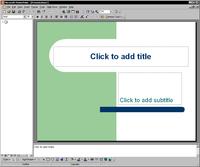 Microsoft PowerPoint 2000 running under Windows 2000