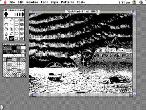 MacPaint - MacPaint 2.0 running on System 7