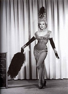 "Marilyn Monroe wearing her original costume for the musical number ""Diamonds are A Girl's Best Friend"".jpg"
