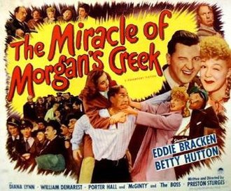 The Miracle of Morgan's Creek - Half-height 1944 poster