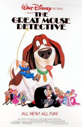The Great Mouse Detective - Original theatrical release poster
