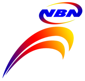People's Television Network - NBN logo from 2007-2011; the NBN wordmark is used from 2001-2011.
