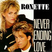 """Cover of the (French) single for """"Neverending Love"""""""