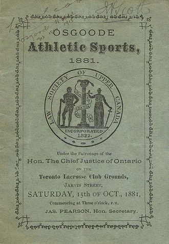 Law Society of Ontario Archives - Athletic sports programme, 1881