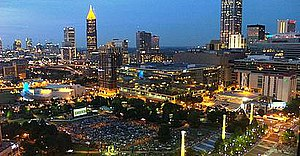 Screen on the Green (Atlanta) - Overhead view during the screening in Centennial Park