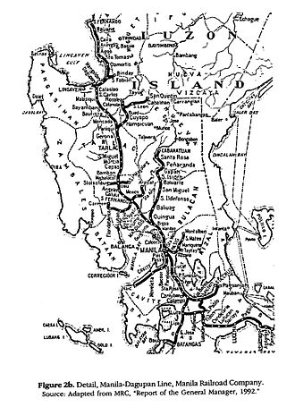 Philippine National Railways - Manila Railroad Company during its peak. Map contains lines that are presently inactive.