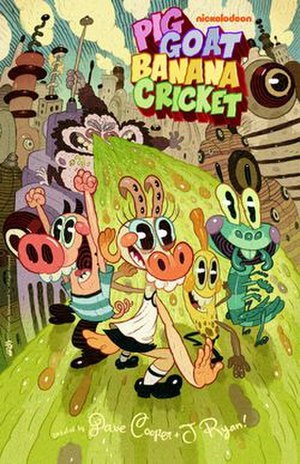 Pig Goat Banana Cricket - Poster featuring the main characters in order