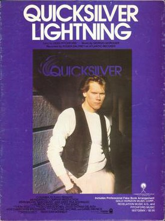 Quicksilver Lightning - A promotional poster for the single.