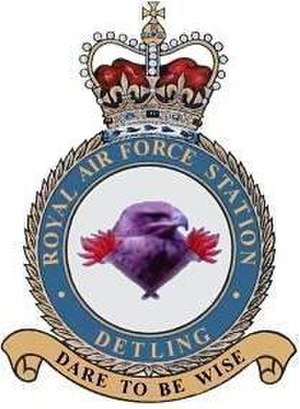RAF Detling - RAF Detling Station Crest, with motto: DARE TO BE WISE